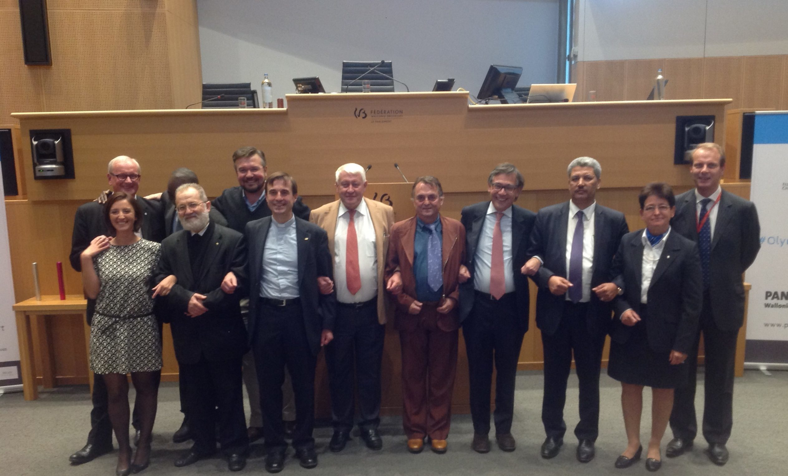 The representatives of Belgium's recognised religions, the secular movement and the Belgian sporting bodies, gathered on 6 October 2016 at the Parliament of the Wallonia-Brussels Federation